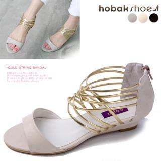 Buy HOBAK girls Metallic Strap Sandals 1022772813