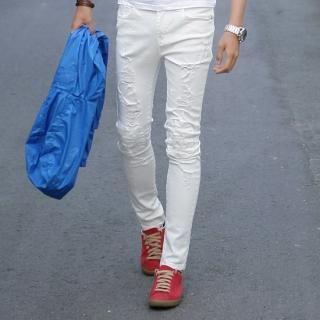 Buy ISNOM Distressed Skinny Jeans 1022753289