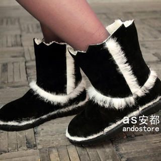 Faux-Fur Trim Ankle Boots