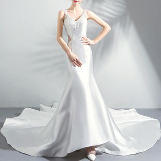 Embroider   Mermaid   Wedding   Dress