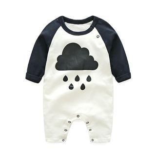 Baby Printed Long-Sleeve Bodysuit