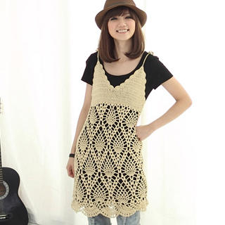Buy CatWorld Crochet-Hem T-Shirt Dress 1022884993