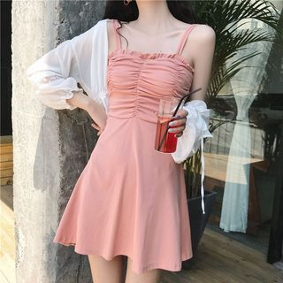 Sleeveless | Chiffon | Jacket | Light | Dress | Mini | Lace