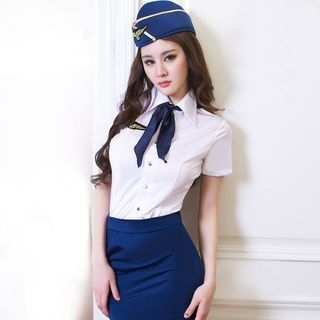 Flight Attendant Costume Set 1054318485