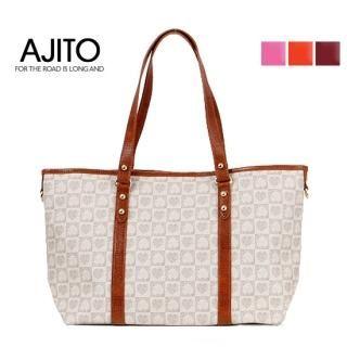 Buy AJITO Faux-Leather Trim Tote 1022562176