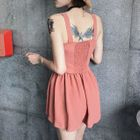 Set: Buttoned Camisole Top + Wide Leg Shorts 1596