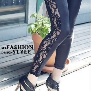 Buy PUFFY Lace Panel Leggings 1022732670