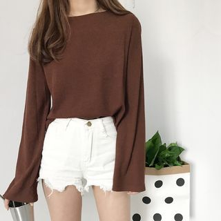 Cropped Long-Sleeve T-Shirt 1061591595