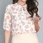 Tie-Front Pattern Top от YesStyle.com INT