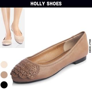 Picture of Holly Shoes Appliqu  Accent Faux-Leather Flats 1023048936 (Flat Shoes, Holly Shoes Shoes, Korea Shoes, Womens Shoes, Womens Flat Shoes)