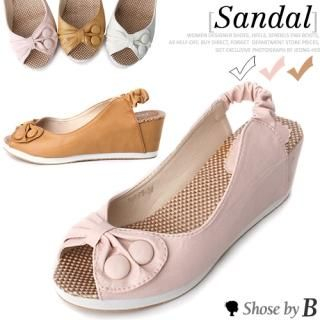 Picture of Shoes by B Bow-Accent Wedge Slingbacks 1023048374 (Other Shoes, Shoes by B Shoes, Korea Shoes, Womens Shoes, Other Womens Shoes)