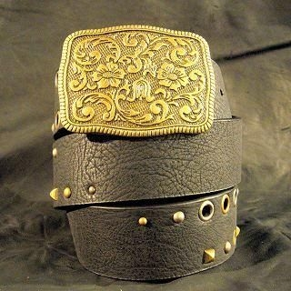 Buy Wizz Spirit Engraved Buckle Faux Leather Belt Black – One Size 1005178531