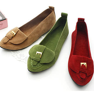 Picture of KAWO Buckled Pointy Flats 1022759415 (Flat Shoes, KAWO Shoes, China Shoes, Womens Shoes, Womens Flat Shoes)