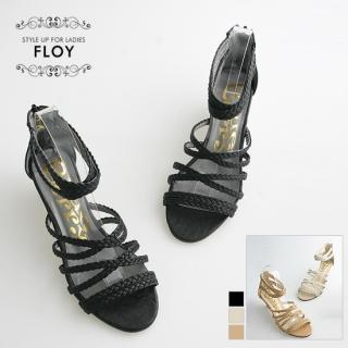 Buy FLOY SHOES Braided Strap Wedge Sandals 1023053999