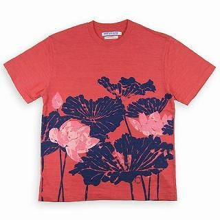 "Buy TOKYO LOCAL BAZAAR [Men] ""Lotus"" Print Tee Red 1021476323"