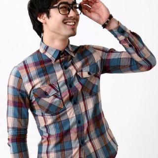 Picture of BLUE HOMME Check Shirt 1022221520 (BLUE HOMME, Mens Shirts, Korea)