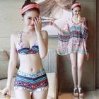 Set: Patterned Bikini + Cover-Up 1596
