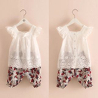 Kids Set: Frilled Top + Printed Shorts 1596