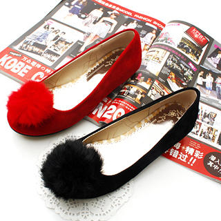 Buy KAWO Pompom-Accent Flats 1022769201