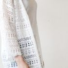 Open-Front Lace Long Cardigan 1596