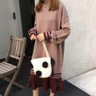 Color Panel Midi Sweater Dress 1596