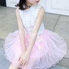 Kids Sleeveless Tulle Dress 1596