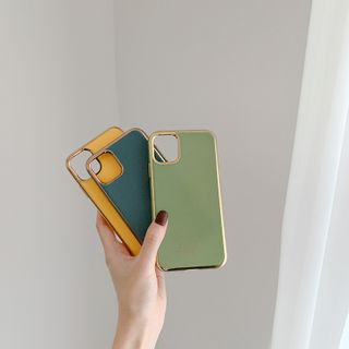 Sapphire   iPhone   Yellow   Print   Case   Blue   Plus