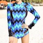 Chevron Long-Sleeve Swimsuit 1596
