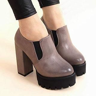 Platform Chunky Heel Ankle Boots