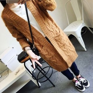 Ribbed Long Cardigan 1055894079