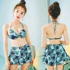 Set: Printed Bikini + Tank Top + Shorts 1596