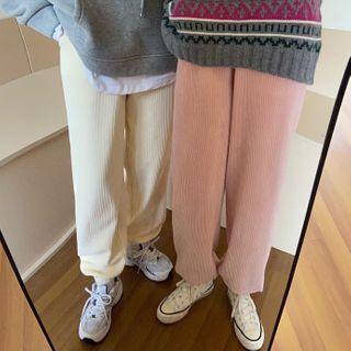 Plain Corduroy Sweatpants