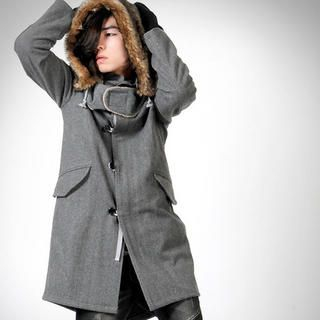 Buy deepstyle Detachable Hooded Wool Coat 1021924306