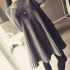 Ribbed A-line Knit Dress 1596