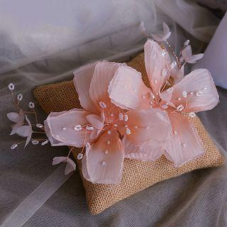Image of Bridal Beaded Flower Hair Clip