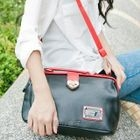 Faux-Leather Crossbody Bag Black - One Size