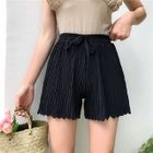 Pleated Wide Leg Shorts 1596
