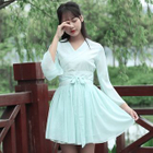 Cosplay Embroidered A-Line Dress 1596