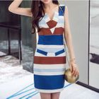 Color Block Sleeveless Dress 1596