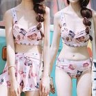 Set: Cat Print Bikini + Swim Skirt 1596