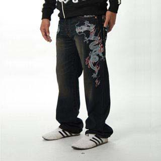 Picture of Buden Akindo Embroidered Jeans - Double Dragons 1014241253 (Buden Akindo, Mens Denim, Japan)