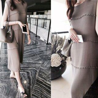 Sleeveless Ribbed Dress 1050747171