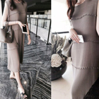 Sleeveless Ribbed Dress 1596