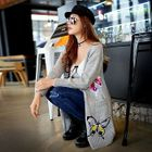 Butterfly Applique Long Cardigan 1596