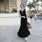 Sleeveless Maxi Dress 1596