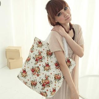 Picture of CatWorld Floral Print Canvas Tote 1022964474 (CatWorld, Tote Bags, China Bags, Womens Bags, Womens Tote Bags)