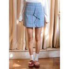 Ruffled Check Mini Skirt 1596