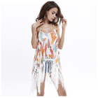 Fringed Printed Strappy Dress 1596