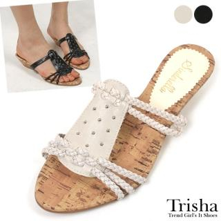Buy Trisha Studded Wedge Mules 1022464620