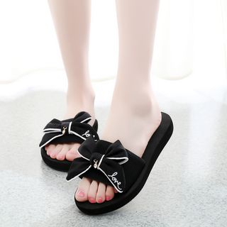 Image of Bow Flat Slide Sandals